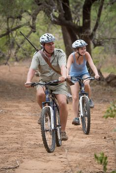 Mountainbike tour in the wild: don't be surprised if you come across some wild animals! Special Interest Groups, Tourism Marketing, Private Games, Game Reserve, Best Places To Travel, Father And Son, Tent Camping, Wild Animals, South Africa