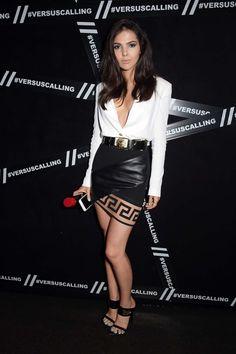 Doina Ciobanu at the Versus Versace event in London. Vogue