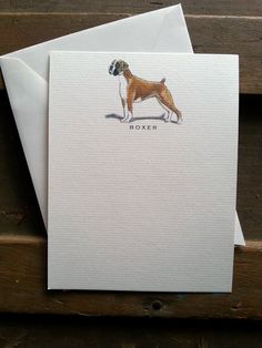 Boxer Dog Note Card Set by canadaonce on Etsy