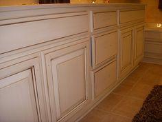 cream glazed cabinet redo...
