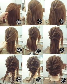 38 Inspiring Prom Updos for Long Hair – Hair Styles Club Up Dos For Medium Hair, Medium Hair Styles, Curly Hair Styles, Updos For Medium Length Hair Tutorial, Medium Length Hair Updos, Easy Updos For Medium Hair, Long Hair Updos, Easy Work Updos, Medium Hair Updo Easy