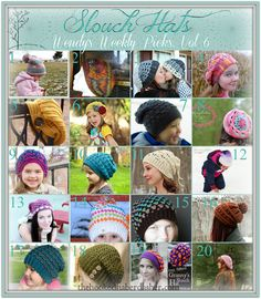 This week it's all about covering your noggin from the elements of the burry cold winter! Yes, I'm talking about that ever popular slouchy beanie that young and old alike are sporting this season t...
