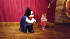 Meeting Mickey mouse for the first time