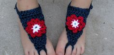Baby Barefoot Sandals  baby booties  crochet baby by TenLilToes, $5.00