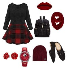 """""""School Girl """" by victoriapicozzi ❤ liked on Polyvore featuring Wet Seal, Calvin Klein, Neff, Raymond Weil, Bling Jewelry, women's clothing, women's fashion, women, female and woman"""