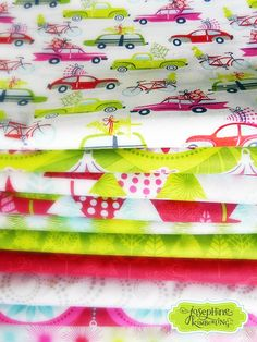 Hip Holiday fabric collection by Josephine Kimberling with Blend Fabrics