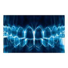 Shop Glowing Blue Teeth Dentist Orthodontist Poster created by Jolanta_Prunskaite. Dental Assistant, Dental Hygienist, Dental Implants, Dental Logo, Dental Art, Dental Wallpaper, Dental Quotes, Teeth Dentist, Dental Technician
