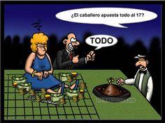 Humor Grafico - chistes graficos: Humor Gráfico: apuesta radical!   [14-11-15]