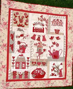 Same diff colours Heart Quilt Pattern, Quilt Patterns, Easy Quilts, Mini Quilts, Aplique Quilts, French General Fabric, Red And White Quilts, Country Quilts, Sampler Quilts