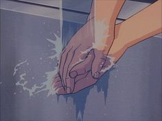 Animated gif in anime gifs collection by A. on We Heart It Anime Gifs, Anime Art, Aesthetic Images, Aesthetic Anime, French Anime, Blue Anime, Anime Kunst, Anime Screenshots, Vintage Cartoon