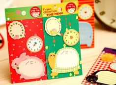 Find More Information about 2015 Korea stationery cartoon clock animal series n times stickers sticky memo pad 4 colors,High Quality clock usb,China pad costume Suppliers, Cheap pad bolt from Jessi's variety store on Aliexpress.com