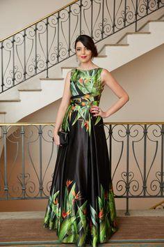 Look do dia: Vestido longo estampado | Just Lia