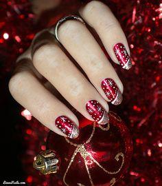 Shellac Nails, Us Nails, Hair And Nails, Acrylic Nails, Manicure, Christmas Tree Nail Art, Cute Christmas Nails, Holiday Nails, Merry Christmas