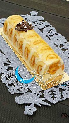 Bûche Royale - A mes nuits blanches - collomb christine - Lemon Desserts, Köstliche Desserts, Delicious Desserts, Cake Recipes, Dessert Recipes, French Pastries, Something Sweet, Christmas Treats, Chocolate Cake