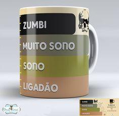 Nossas Canecas Personalizadas são de Porcelana Branca de primeira linha!  Feitas com resina especial para sublimação (resistentes ao micro-ondas e máquina de lavar louça).  * Formato: cilíndrico  * Capacidade: 325 ml  * Altura: 9,5cm  * Diâmetro: 8 cm    Acima de 10 unidades valor diferenciado!  ... I Love Coffee, Coffee Break, Geek Decor, Cute Mugs, Mug Cup, Decoration, Tea Cups, Coffee Mugs, Coffee Lovers