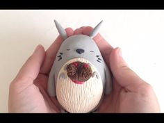 Totoro and Mei Figurine polymer clay tutorial