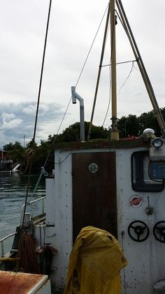 from deck to wheelhouse onboard Utility Pole, Deck, Boat, Dinghy, Decks, Boats, Decoration