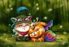 Who says we're rivals? We're best friends! - League of Legends, Teemo and Gnar