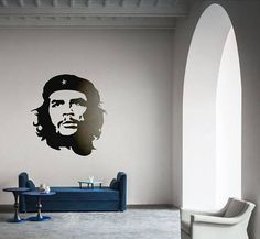 """Ernesto Guevara de la Serna Vinyl Decal / Sticker Silhouette... Price : 9.90 EURO ( S&H if applicable) ... HashTags : #brutalvisual #brutalvisualstudio #handmade #custom #etsy #customdesigns #brutal #silhouette #mural #vinyl #cheguevara #ernestoguevara #argentina #ernestocheguevara #face #poster #decal #walldecal #walldecor #cheguevarasticker Ernesto """"Che"""" Guevara (June 14 1928 October 9 1967) commonly known as el Che or simply Che was an Argentine Marxist revolutionary physician author…"""