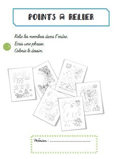 Fichier points à relier - coraliecaramel Le Point, Presentation, Language, Dots, School, Occupation, Minute, Montessori, School Games