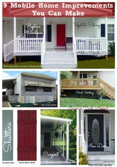 9 mobile home improvement ideas you can use to make your home more joyful. Front Porch Ideas and More