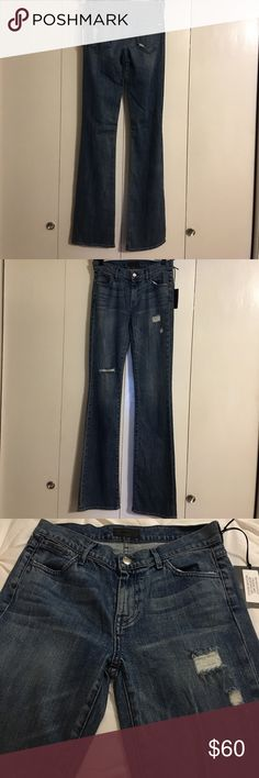 """NWT Koral Mid Rise Blue Indigo Bootcut Jeans 26 Size 26"""" Waist  33"""" Length. Koral Mid Rise Bootcut Medium Indigo - 1MFD Style# F160-024S-1MFD Thread Slate. Brand new with Tag. Koral Jeans Boot Cut"""