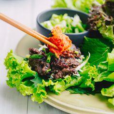 Korean Grilled Beef Lettuce Wraps