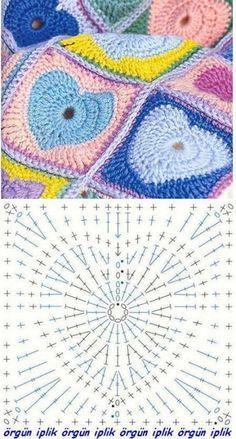 Transcendent Crochet a Solid Granny Square Ideas. Inconceivable Crochet a Solid Granny Square Ideas. Crochet Motifs, Crochet Blocks, Granny Square Crochet Pattern, Crochet Diagram, Crochet Stitches Patterns, Crochet Chart, Crochet Squares, Love Crochet, Crochet Granny