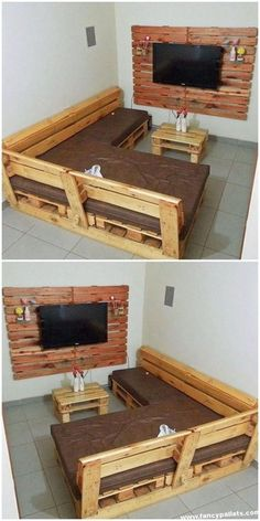 New Rustic Patio Furniture Diy Woods Ideas Wooden Pallet Furniture, Diy Outdoor Furniture, Furniture Projects, Rustic Furniture, Furniture Decor, Furniture Design, Wooden Pallets, Furniture Removal, Furniture Companies