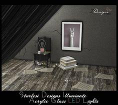 Illuminate Acrylic Glass LED Lights by Daeron for The Sims 4