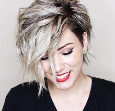 "5,497 tykkäystä, 139 kommenttia - Chloé Brown (@chloenbrown) Instagramissa: ""Sassy hair calls for sassy red lips! Am I right!?!? . . . . . . . . . . . . . #shorthair…"""