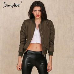 Simplee Apparel Winter parkas cool basic bomber jacket