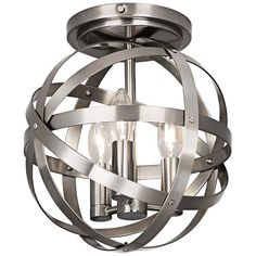 "Robert Abbey Lucy Dark Antique Nickel 10 1/4""W Ceiling Light - #EU16F08 - Euro Style Lighting"