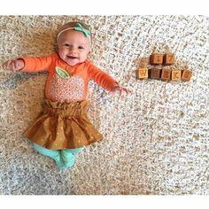 Las fotos del bebé son bonito recuerdo además nos hacen ver que tanto llegan a crecer mes con mes, esta es una muy buena idea para tomar en cuenta.