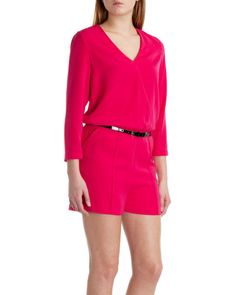V neck playsuit - Deep Pink | Outlet | Ted Baker UK