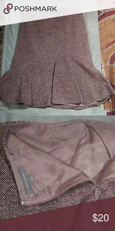 Ann Taylor skirt Great condition, dry cleaned only, dark purples Ann Taylor Skirts