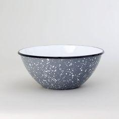 Set of 5 Enamel Graniteware Nesting Bowls | Porcelain Enamel Bowl