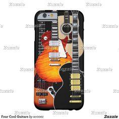 Four Cool Guitars phone case