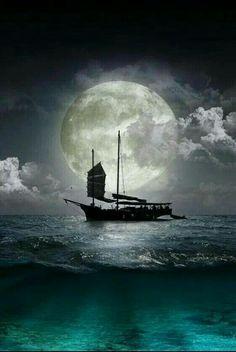 Similar images to 9677252 Flying Dutchman, pirate ship sailing in the moonlight Shoot The Moon, Moon Pictures, Good Night Moon, Moon Magic, Beautiful Moon, Super Moon, Blue Moon, Moon Sea, Stars And Moon