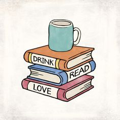 "'Drink, Read, Love - Book Lover Quote Art' Sticker by RedHillPrints - ""Drink, Read, Love – Book Lover Quote Art"" Stickers by RedHillPrints Cute Quotes For Friends, Quotes For Book Lovers, Book Lovers Gifts, Gifts For Librarians, Aesthetic Drawing, Art Quotes, Quote Art, Motivational Quotes, Aesthetic Stickers"