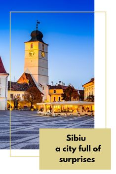 Sibiu is full of tourist attractions and places to visit, most of which are concentrated in the historical center of the city and around it.  So you do not need any means of transport, but you can walk all the way down and breathe the medieval air that will envelop you after the first steps. I will present to you a few tourist attractions you will meet. Romania Tours, Medieval Town, All The Way Down, Cool Places To Visit, The Good Place, Breathe, Transportation, Cathedral, Meet