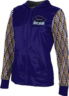 Distressed ProSphere University of California Santa Barbara Girls Zipper Hoodie School Spirit Sweatshirt
