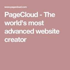 PageCloud - The world's most advanced website creator