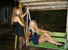 Teens in pantyhose