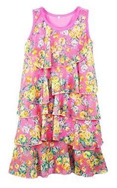 Little Girls Casual Country Styles Dress Pink 8 *** Read more reviews of the product by visiting the link on the image.