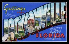 Jacksonville Florida Fridge Magnet vintage by catchingcanaries