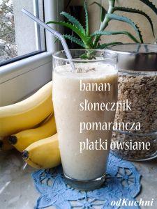 smoothie banan pomarancza slonecznik platki owsiane Nutribullet, Kefir, Glass Of Milk, Kitchen Appliances, Drinks, Eat, Smoothie, Food, Inspiration