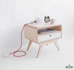 FIU.2 / our handmade, customized plywood bedside table / designed by Wood Republic / #wood #wooden #plywood #furniture #bed #bedroom #ideas #design #interior #bedside #table #cabinet #stand #night #drawer #colored #stylized #modern #scandi #scandinavian #hygge #handmade #hand #made #crafted #customized #custommade #natural
