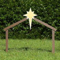 Includes 1 outdoor nativity scene stable and support stakes Made of all-weather, fade-resistant PVC plastic Material thickness: inch (Standard / Large); inch (Full-size) Designed to withstand rain, snow, harsh sunlight, and moderate wind Made in USA Christmas Manger, Christmas Nativity Scene, Christmas Store, Christmas Wood, Christmas Crafts, Christmas Scenery, Nativity Scenes, Christmas Activities, Nativity Star