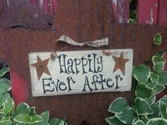 Happily Ever After Hand Painted Wood Sign with by TheCountryShed, $12.00
